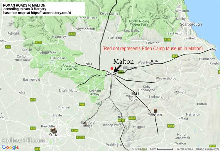 Roman Roads to Malton,England