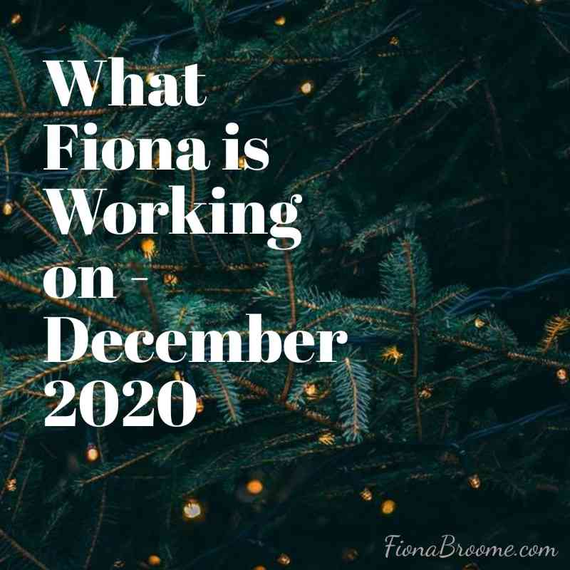Fiona Broome - Dec 2020 projects and news